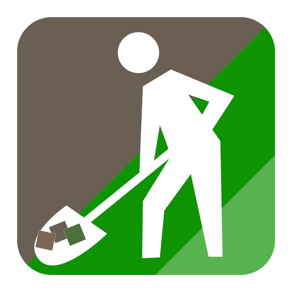 Garden clearance icon - Alt text