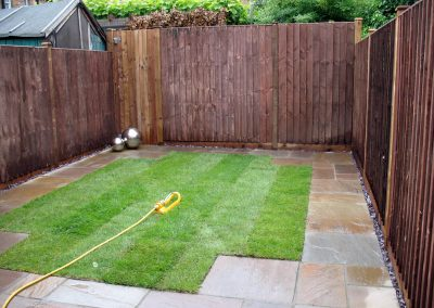 York St Garden - new lawn with surrounding border